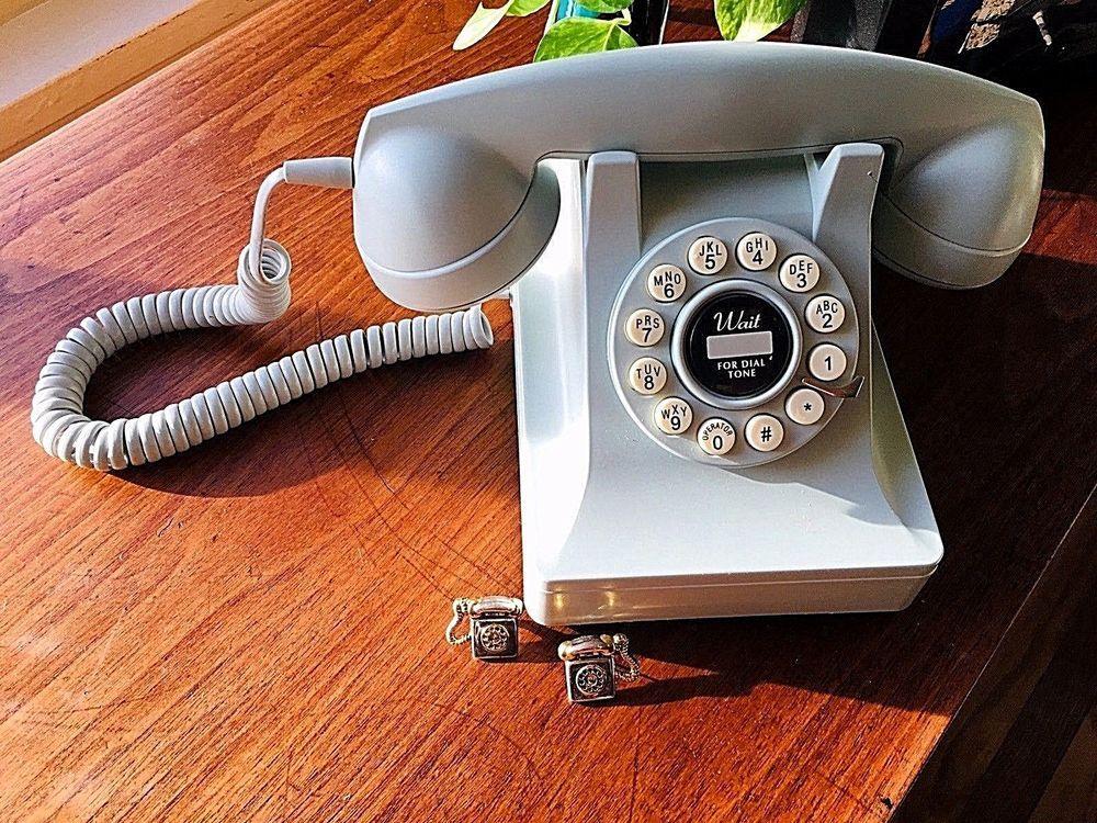 Vintage Aqua Lite Sky Blue Mid Century Telephone Phone Earrings