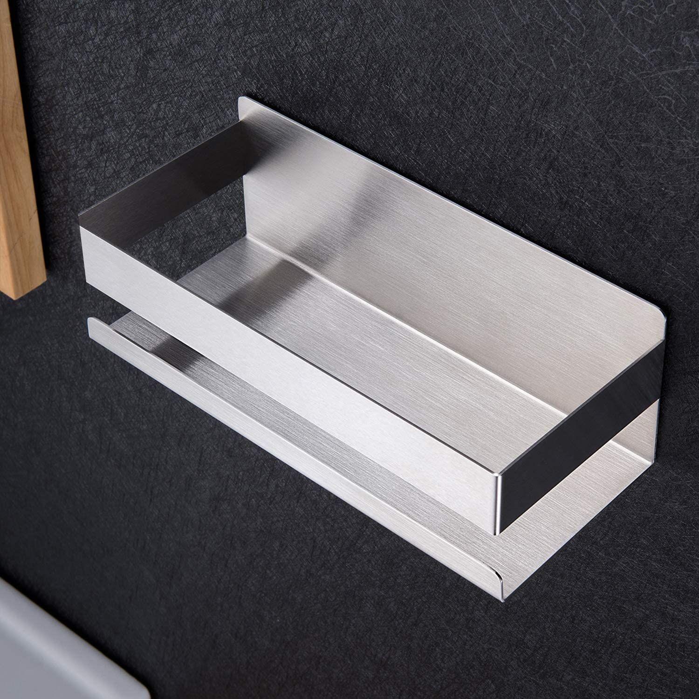 Duschablage Ohne Bohren Duschkorb Selbstklebend Duschregal aus Edelstahl für Badezimmer