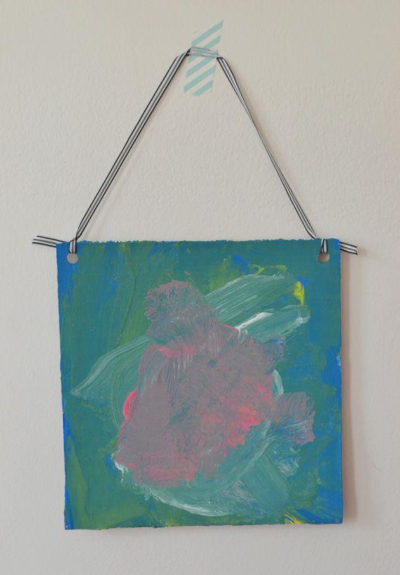 Cardboard Paintings: Exploring Primary Colors