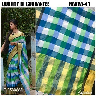 260828143 Multicoloured Checked Cotton Silk Saree With Blouse Piece | Designer ...