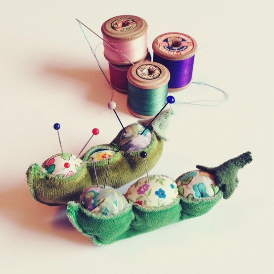 Pin it to Win it competition WINNER - Sarah Smith. We love these adorable 'peas in a pod' pin cushions. Perfect for pins and craft time. Well done! #novelty #pincushion