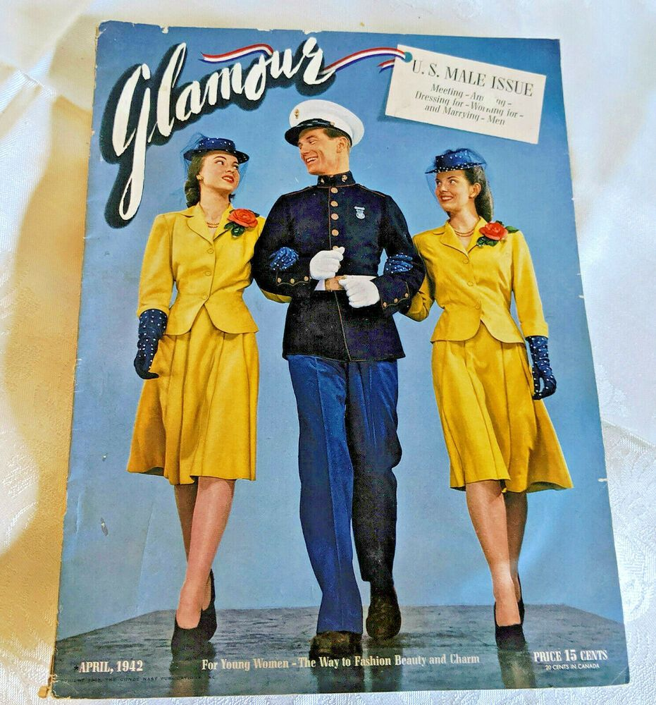 1942GLAMOUR MAGAZINEU.S. MALE ISSUE 116 PGS ADVERTISING