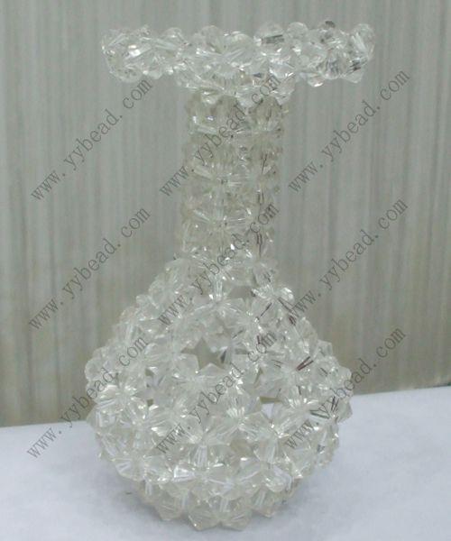Clear Crystal Beaded Vase For Wedding Decor Flower Hp003 Beads