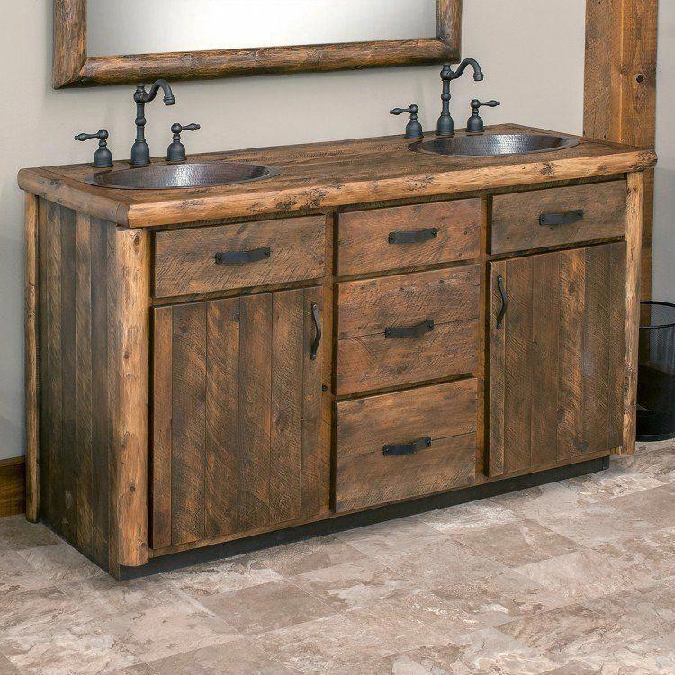 Photo of Olde Towne Rustic Log Vanity 48″ – 72″