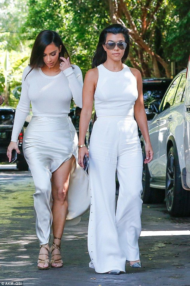 First: Her sisters Kim and Kourtney were already settled having arrived together a good deal earlier