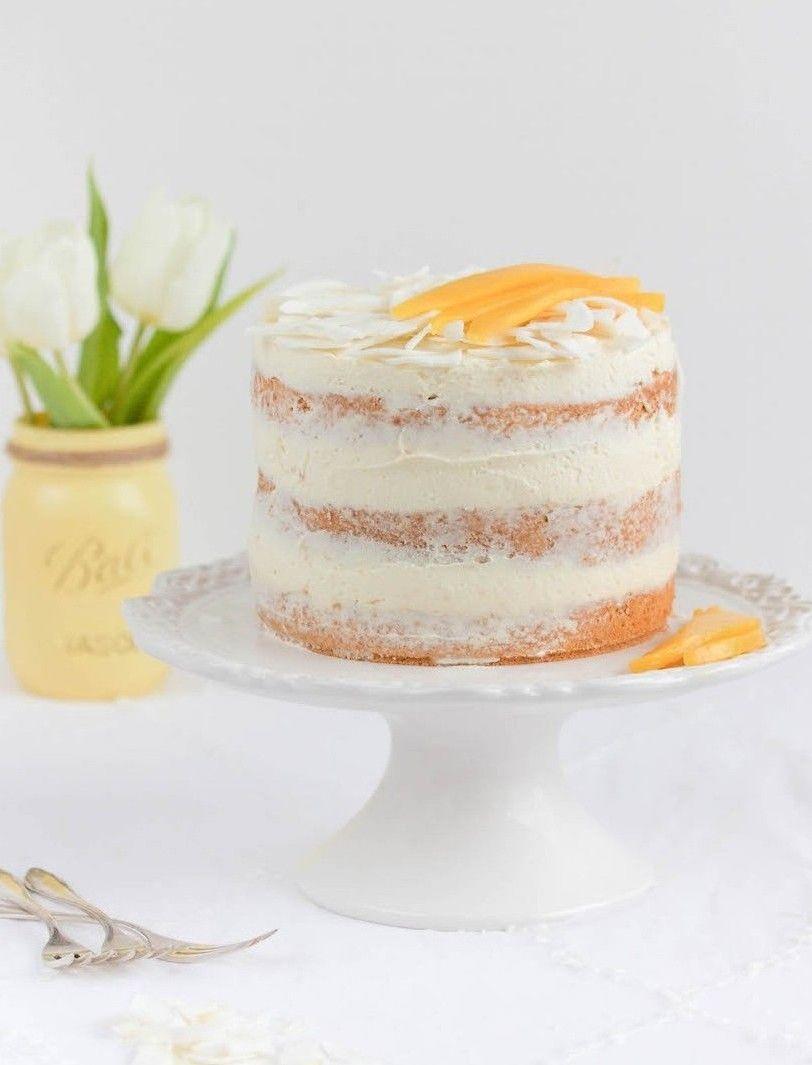 Mango Kokos Torte Mit Weisser Schokolade Weisse Schokolade Kleine Kuchen Rezepte Torten