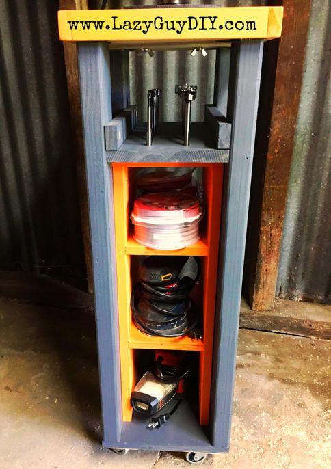 Rolling Drill Press Cart With Bonus Storage Drill