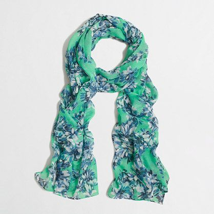 J Crew Factory floral scarf.