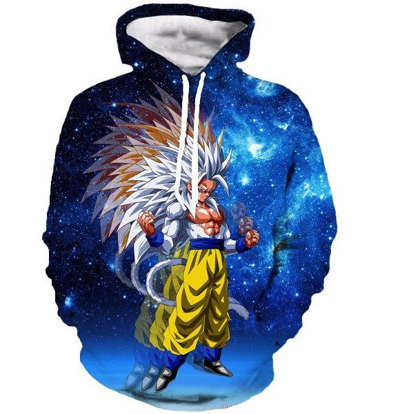 New Women Men Dragon Ball Goku Galaxy Hoodie 3D Print Casual Sweatshirt Pullover