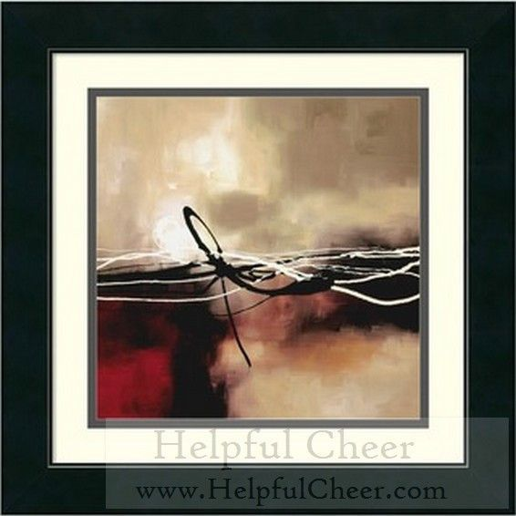 Laurie Maitland x27 Symphony in Red and Khaki II x27 Framed Art Print - at