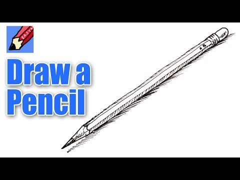 How to draw a Pencil Real Easy - YouTube