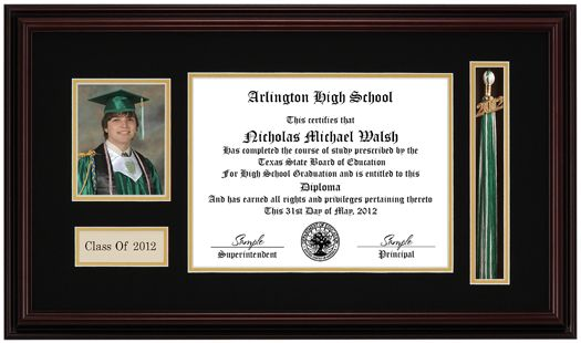 Frames For Graduation Pictures Picture Tassel Diploma Frame