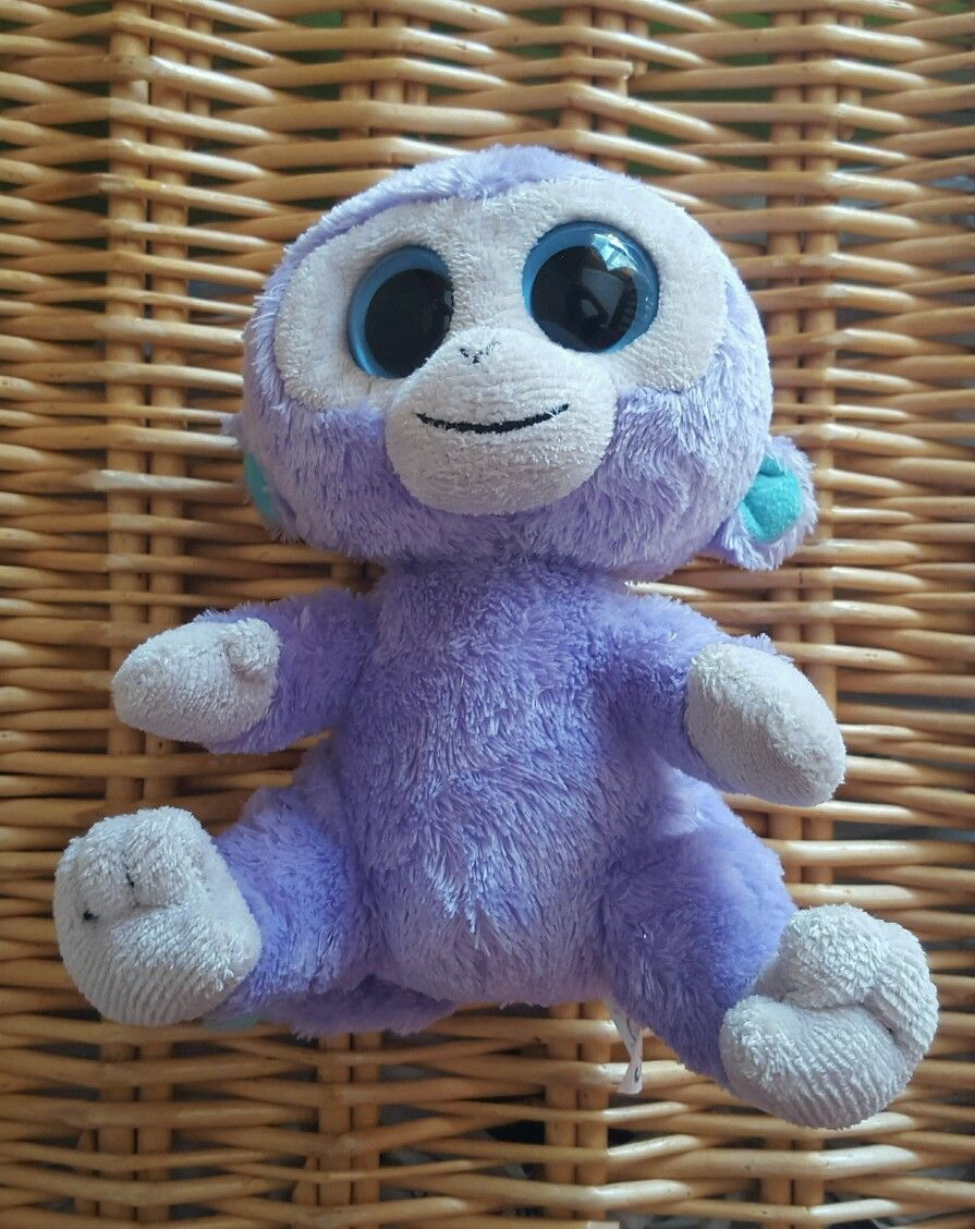 dadd5d82dce Rare Ty Beanie Boos Boo Soft Plush Toy Blueberry the Purple Monkey Approx 6