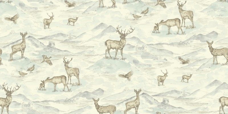 ARTHOUSE CREAM NEUTRAL VINTAGE STAG DEER HIGHLANDS COUNTRYSIDE WALLPAPER VINYL