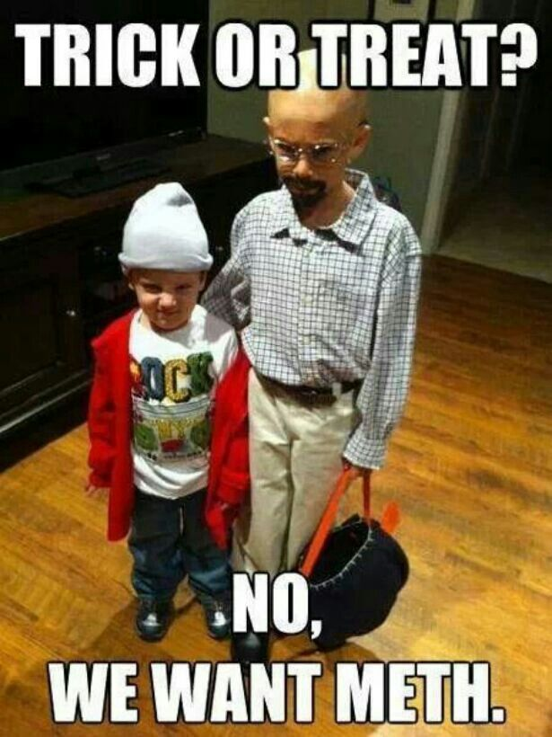 Halloween is coming. And of course Breaking Bad characters are the perfect costume.