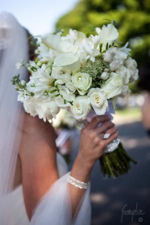 Lovely White Bouquet With Calla Lilies And Roses @myweddingdotcom