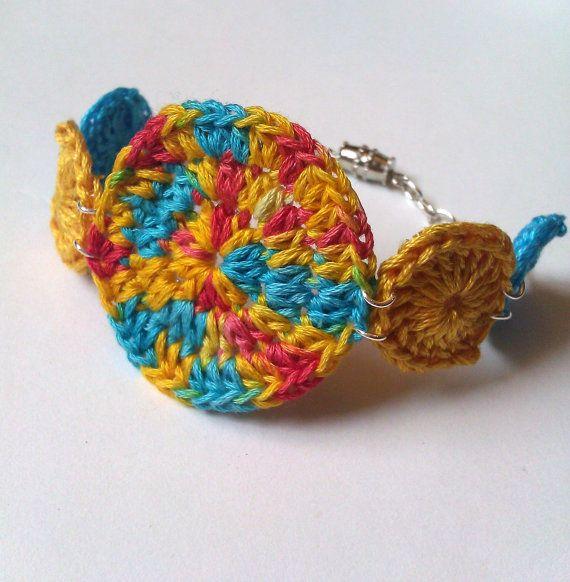 tie dye crochet bracelet  FREE SHIPPING by royaboya on Etsy, $18.00