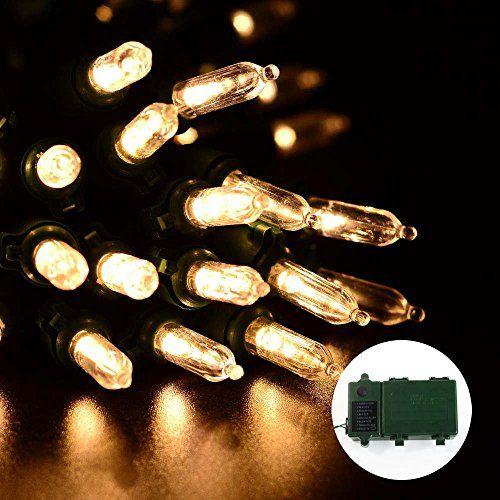 cool lederTEK 50 LED 131ft Super Bright Battery Operated Outdoor