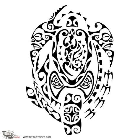 Family Protection The Turtle Family Is Central Protected By The Hammerhead Shark On Its Left And By Tikis On Protection Tattoo Tribal Tattoos Maori Tattoo