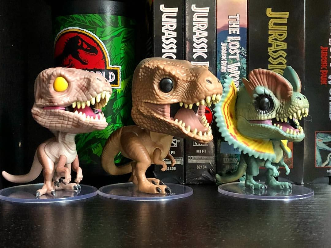 Jurassic Park Funko Pops Dinosaurs Tyrannosaurus Rex Dilophosaurus And Velociraptor Parque Jurasico Jurassic World Tiranosaurio Funko is a pop culture collectibles company. jurassic park funko pops dinosaurs