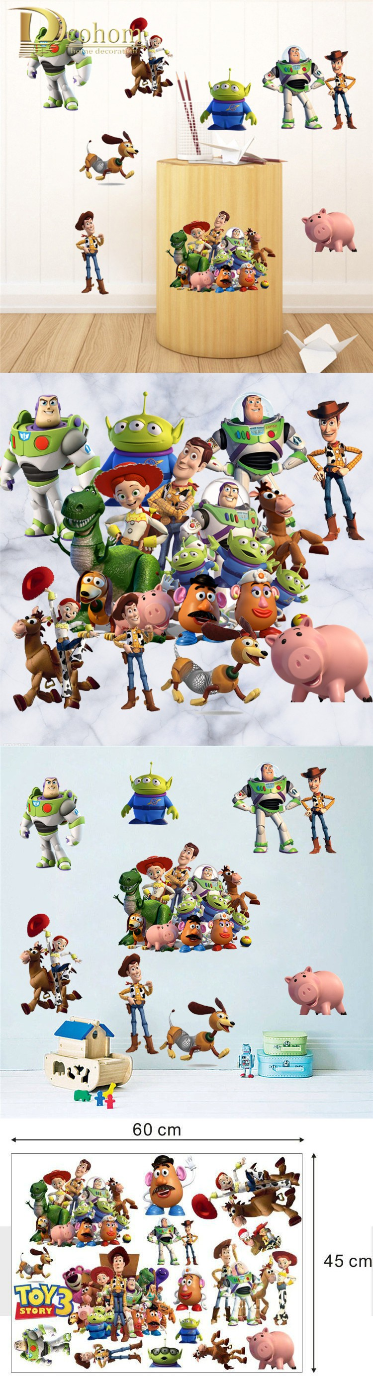 Wall decals toy story woody buzz lightyear diy wall sticker kids wall decals toy story woody buzz lightyear diy wall sticker kids room bedroom decoration vinyl art amipublicfo Image collections