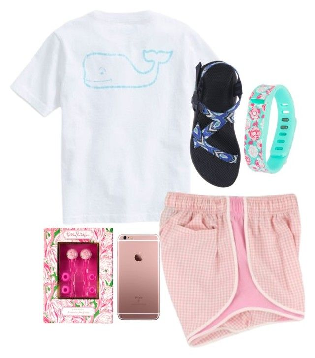 """""""Going for a walk"""" by christyaphan ❤ liked on Polyvore featuring Vineyard Vines, Lilly Pulitzer, Fitbit and Chaco"""