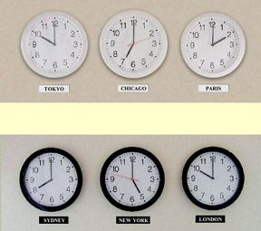 multi time zone clocks Inspiration Pinterest Time zone clocks