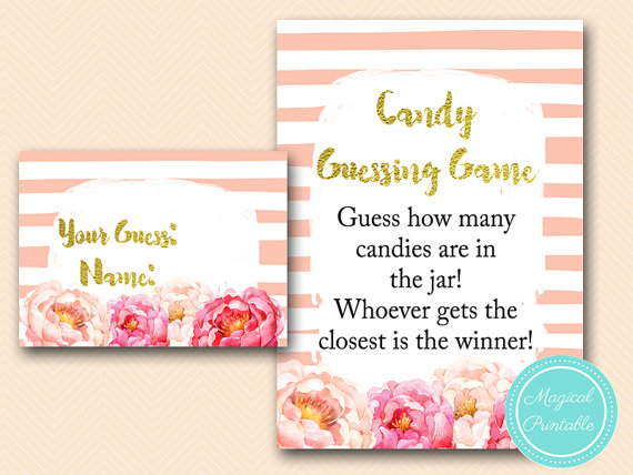 Candy Guessing Game Printable Guess How Many Candies In Jar
