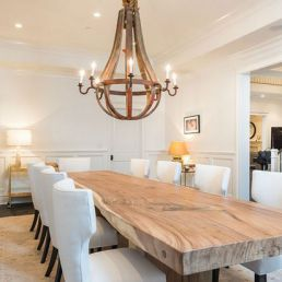 Contemporary Dining Room With Natural Wood Table Country Dining