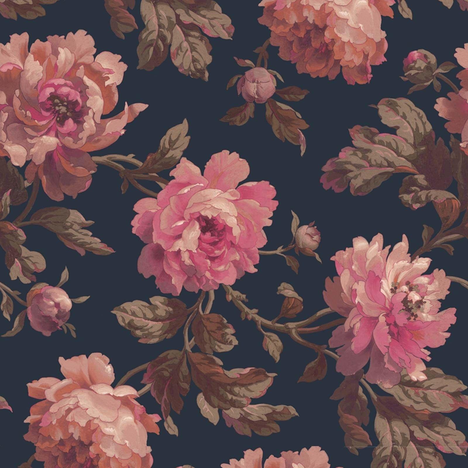 Peoneden Wallpaper Midnight Old Wallpaper Wallpaper Pattern