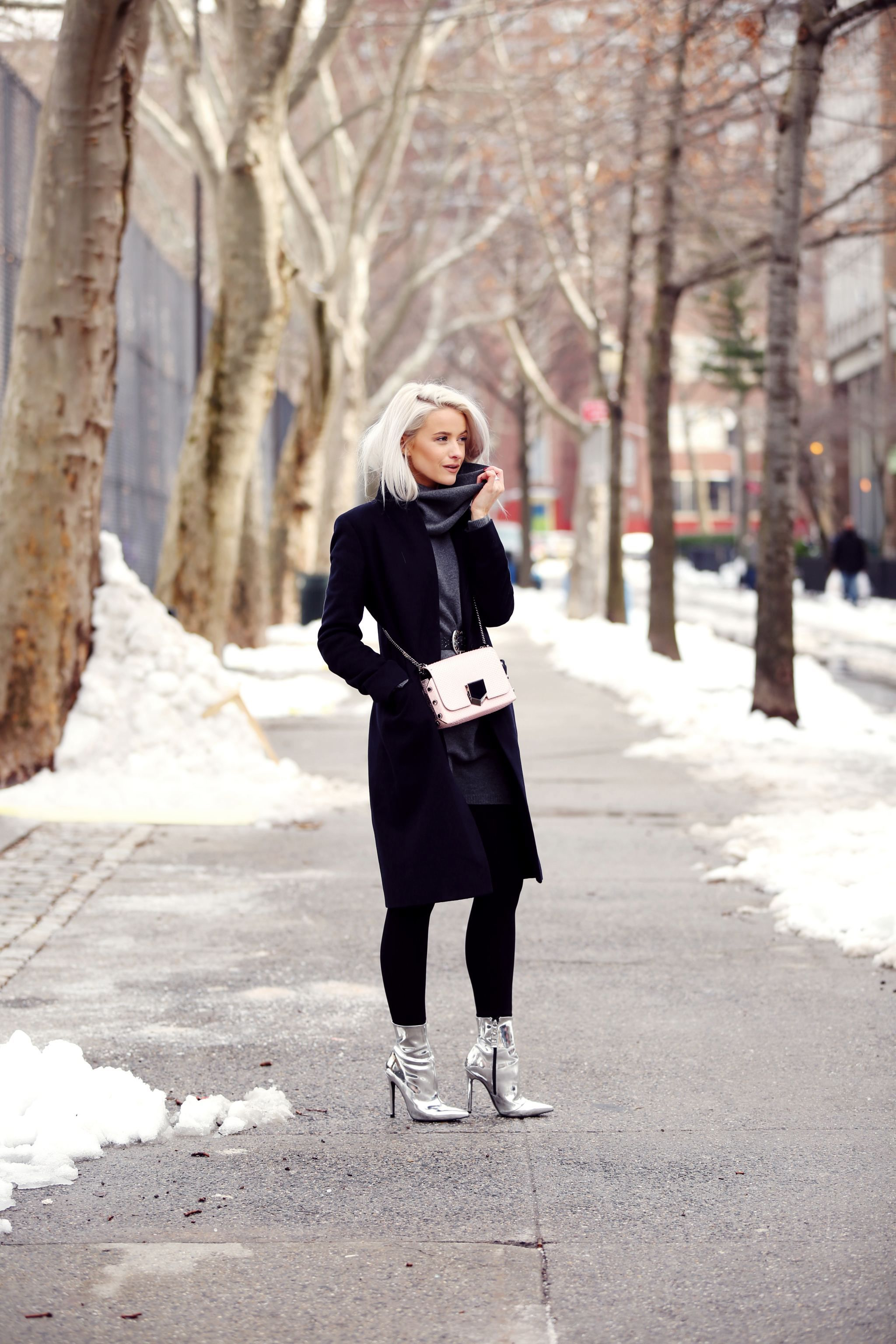 Image result for how to style metallic booties