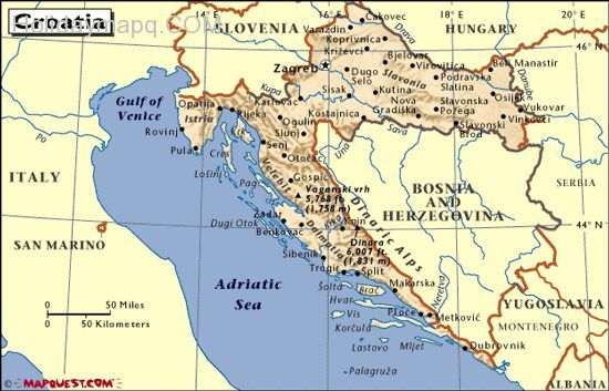 Map Of Croatia Croatia Political Geography