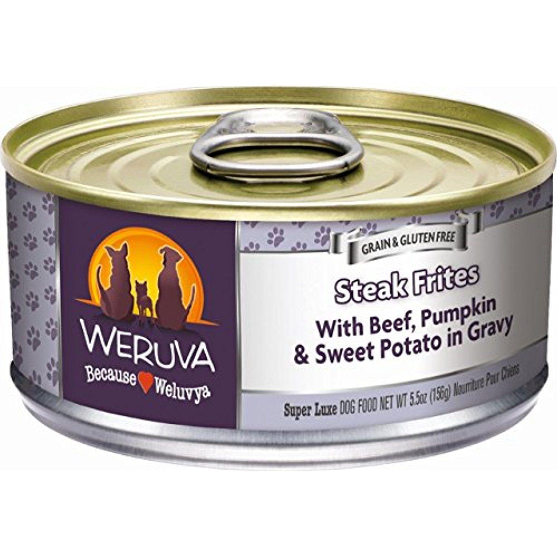 Weruva Classic Dog Food, Steak Frites with Beef, Pumpkin