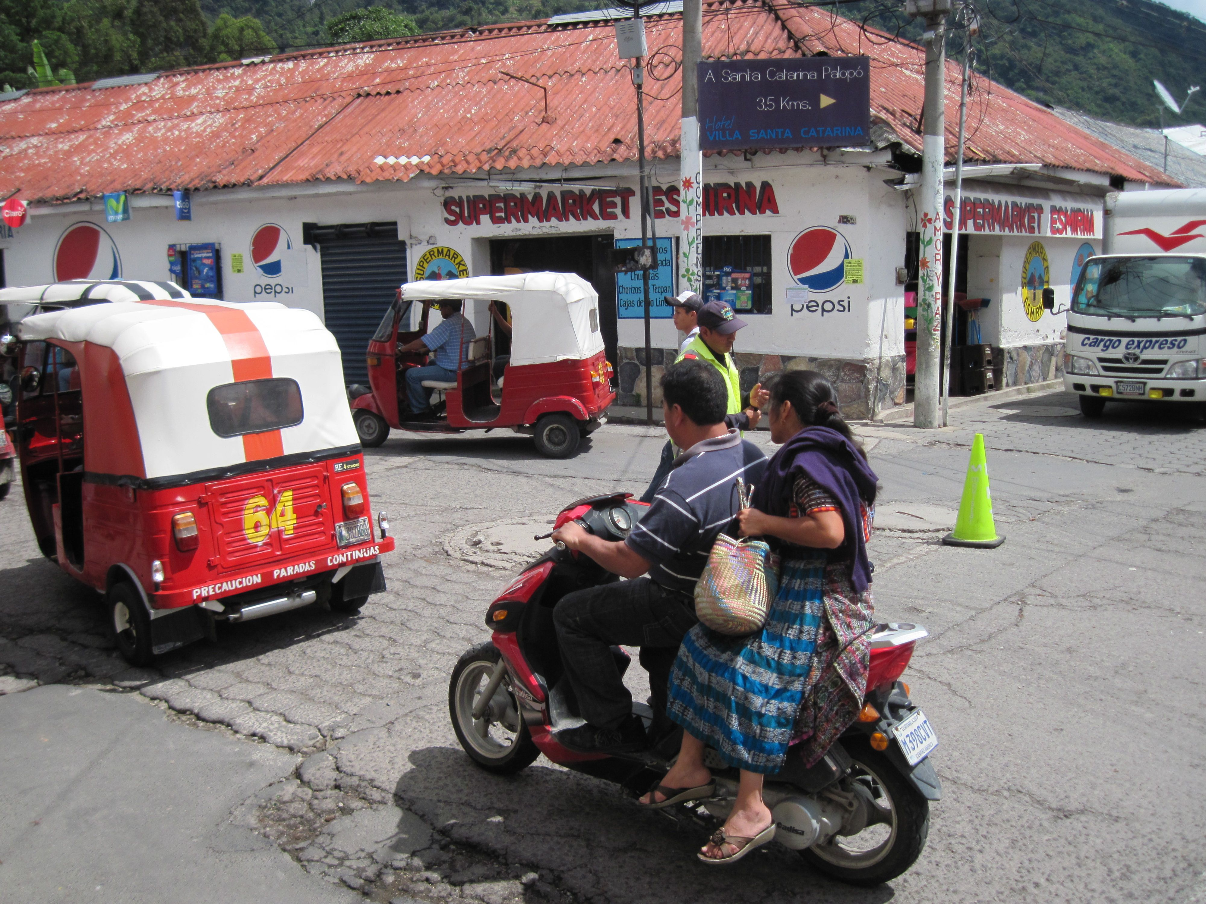 cheap means of transportation used all through out guatemala