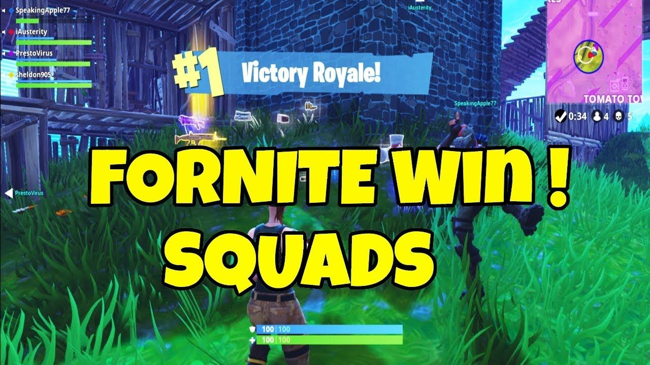 Fortnite Squad Win Xbox Fortnite Squad Win Xbox (With