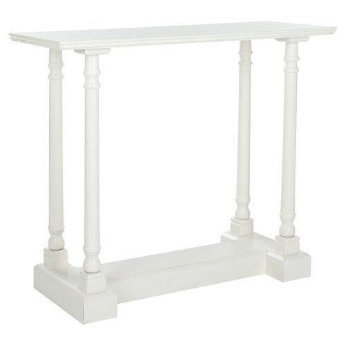 Ally Console Table in Distressed Cream