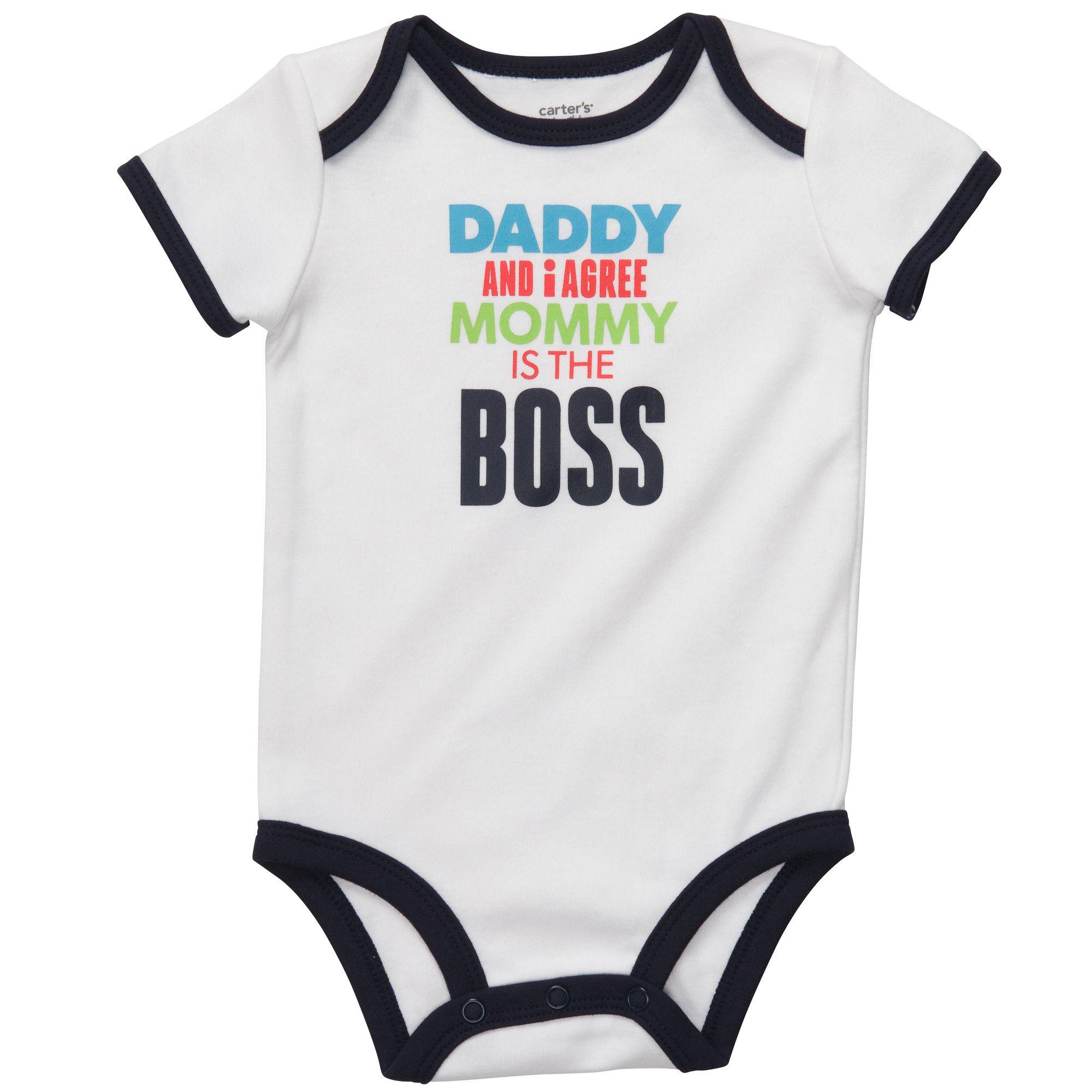 Boss Life Baby Short Sleeve Romper Onesie Bodysuits for Toddler