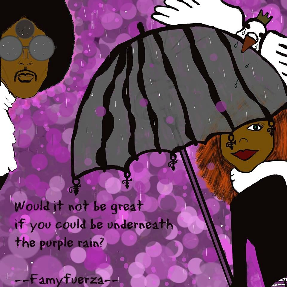 Sometimes you just want to dance in the purple rain ..