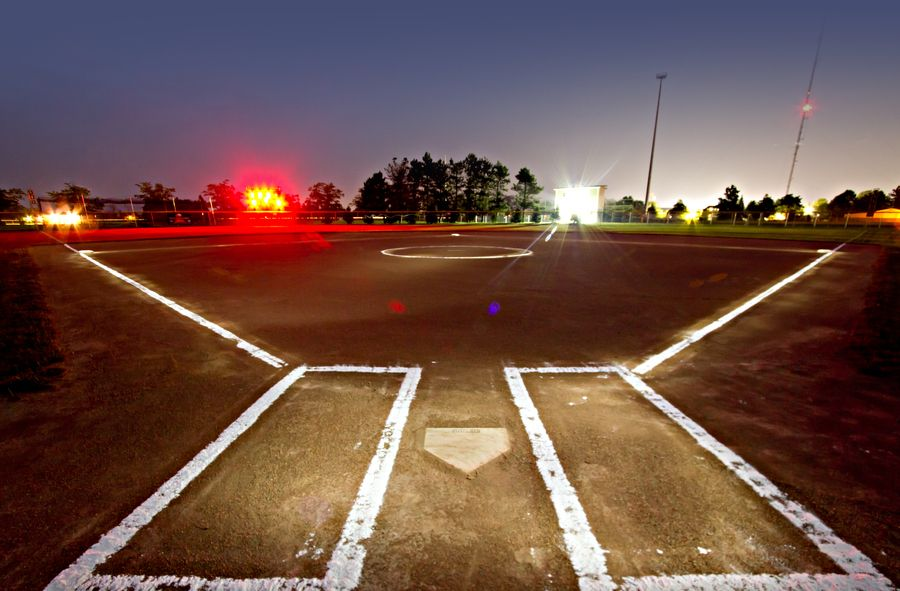 Glowing Softball Field by Ken Colwell, via 500px