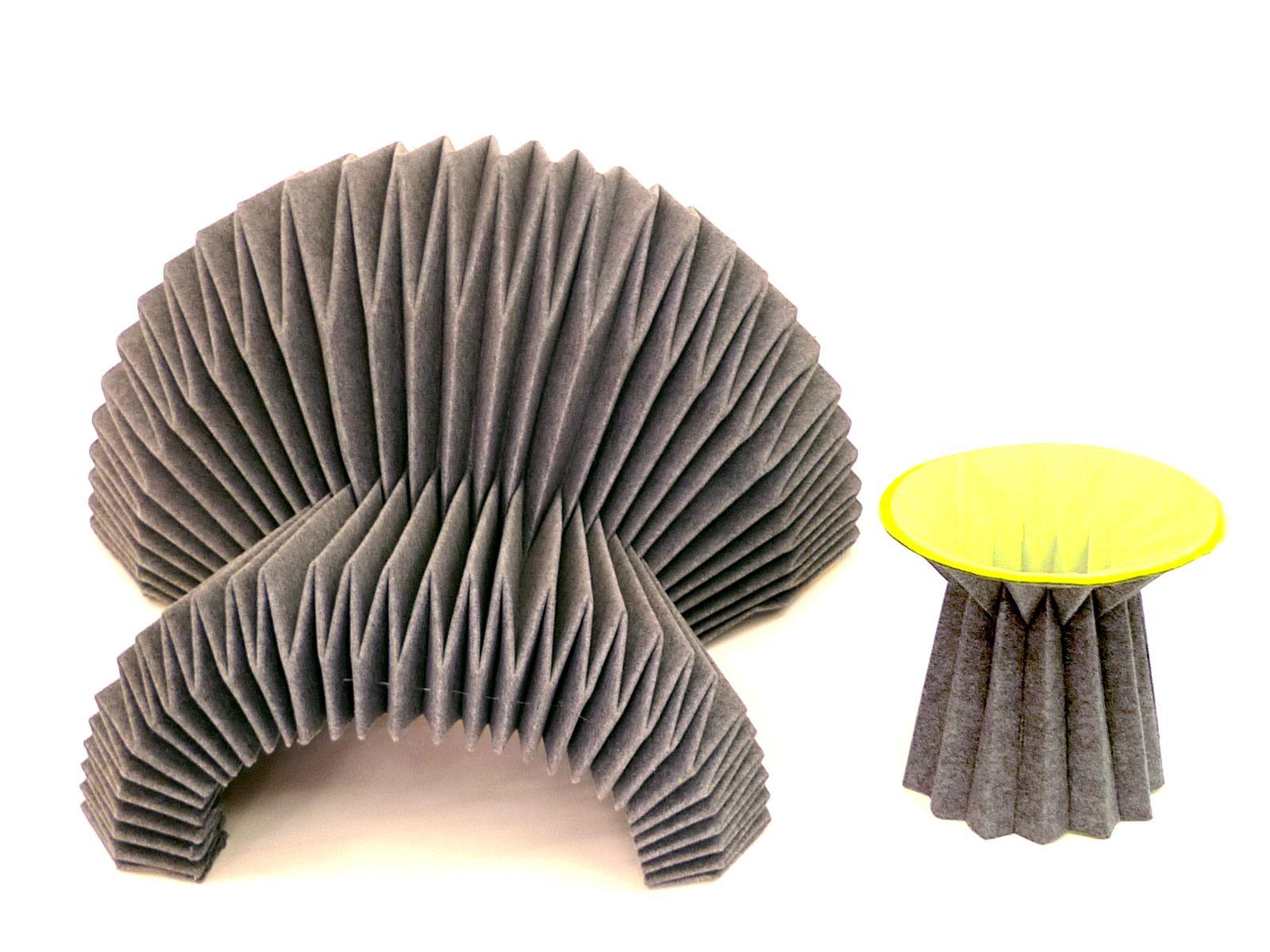 Li-Rong Liao. Folded Felt Table. | furniture - photo#45