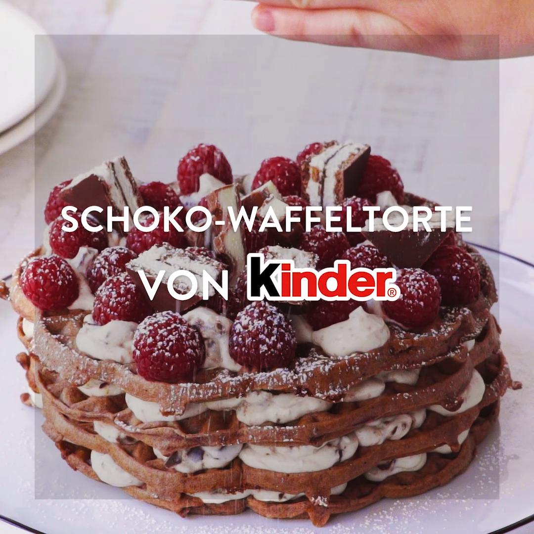 Schoko-Waffeltorte mit kinder-Schokolade