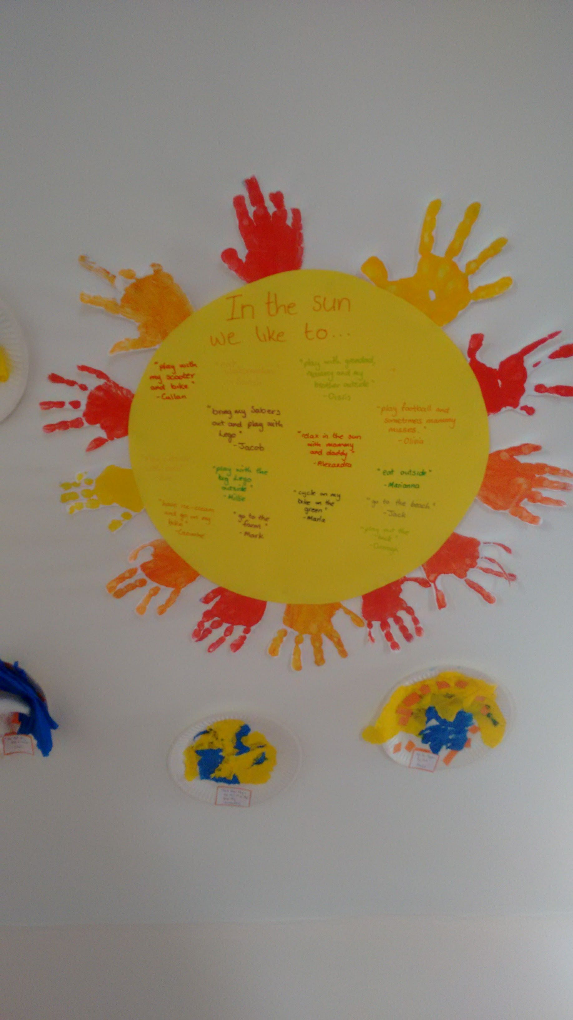 Preschool Sun Activity
