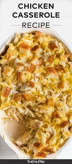 Chicken Casserole With Campbell S Canned Soup Potatoe Casserole Recipes Casserole Recipes