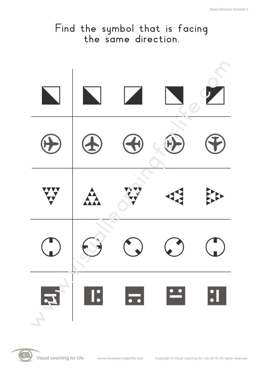 Same Direction Symbols Learning For Life Directions Visual Learning [ 1500 x 1060 Pixel ]