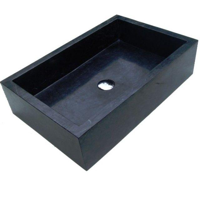Evier En Pierre Naturelle Vasque Marbre Noir En Exclusivité à 219