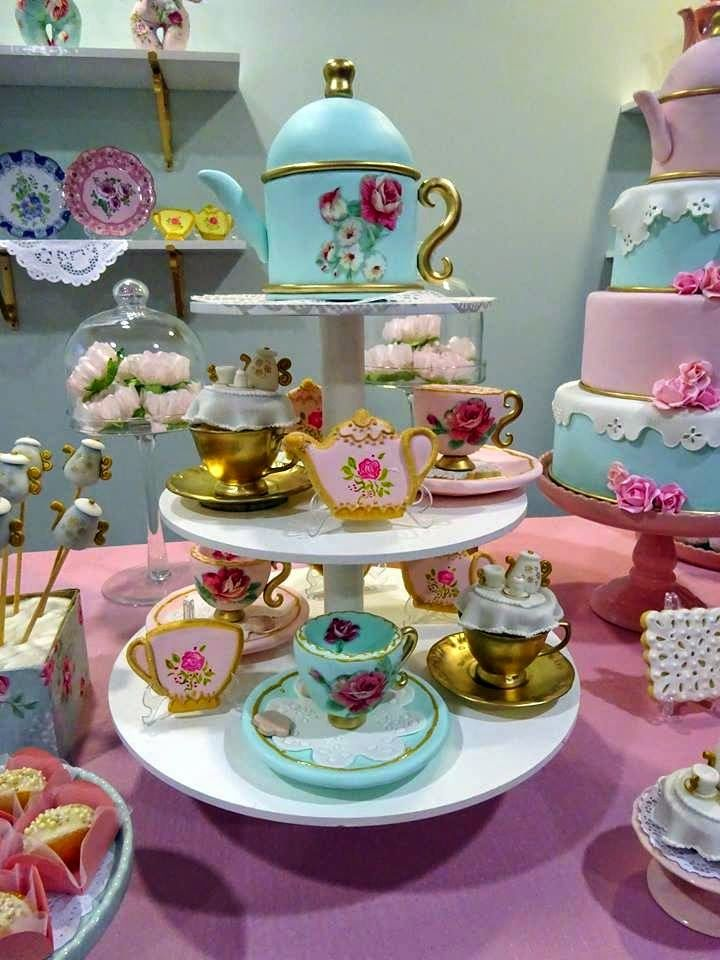 Cookieria By Margaret: English Tea Baby Shower....