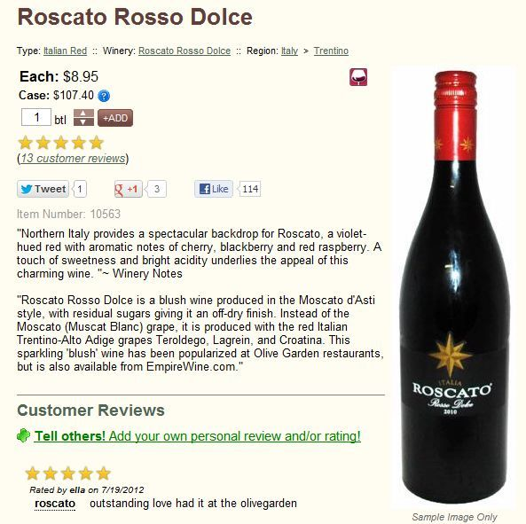 Roscato Rosso Dolce Italian Red Wine At Empire Wine Red Wine Wine Sweet Wine