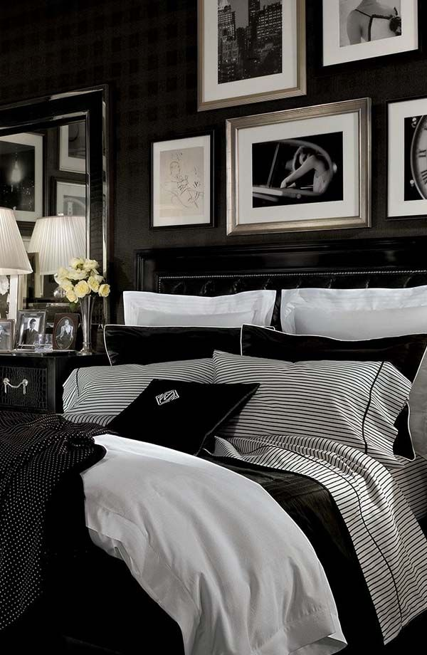 33 Chic And Stylish Bedrooms Dressed In Black White