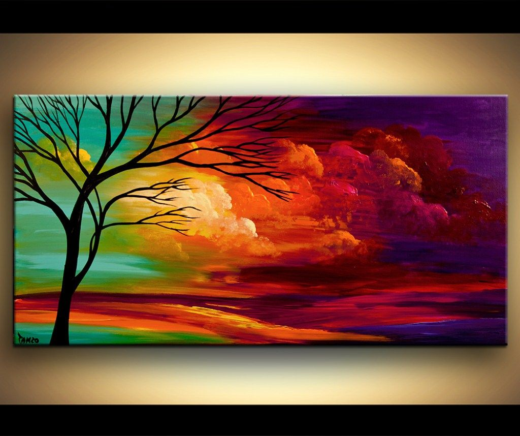 Simple Scenery Drawing Art Mountain 43landscape 43by 43yib91 Abstract Tree Painting Colorful Landscape Paintings Beginning Watercolor