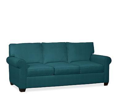 Buchanan Roll Arm Upholstered Deluxe Sleeper Sofa, Polyester Wrapped Cushions, Vintage Velvet Bali